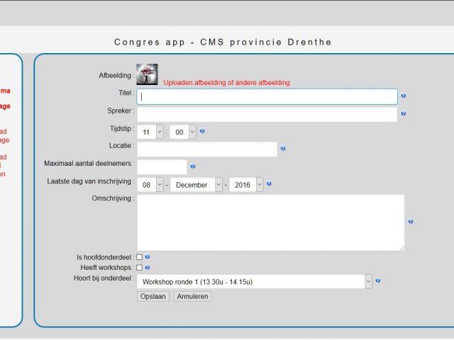 Congres app Provincie Drenthe