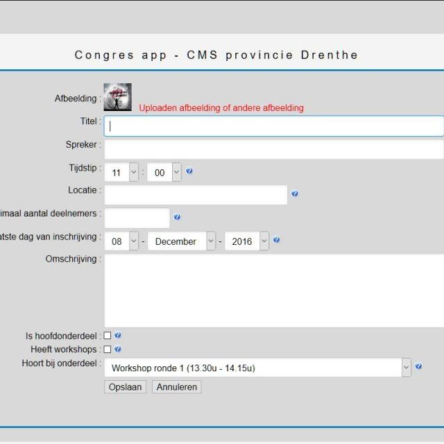 Congres app voor Provincie Drenthe opgeleverd